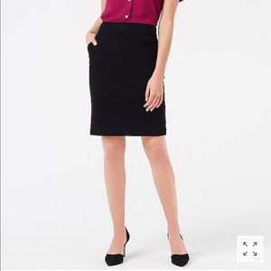 J.Crew Navy Blue Ponte Pencil Skirt